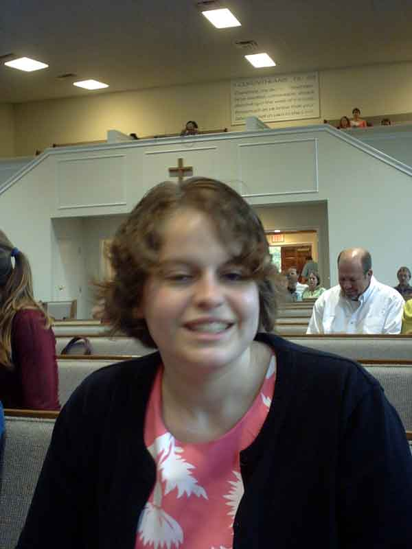 This is my friend Tori, but she doesn't always look like she's about to fall asleep, only in church.
