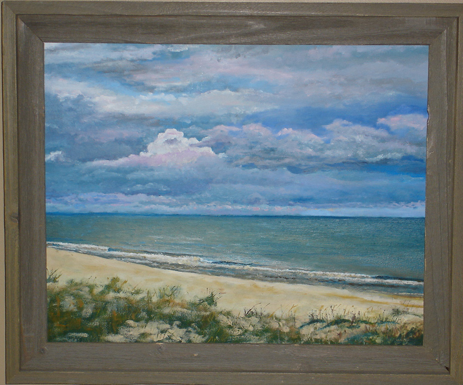 "Stormy Cape San Blas - 16""x20"" - oil on canvas - 2002 - SOLD"