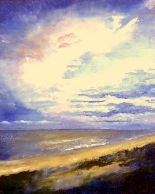 "Sunset at Cape San Blas - oil on canvas - 16""x20"" -  2003 - $200"